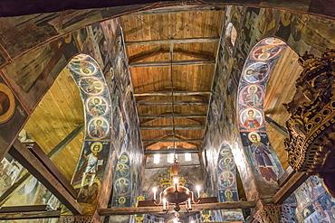 Interior, 16th to 18th century murals and frescoes, Church of Sveti Stefan (St. Stephen), Nesebar (Nessebar), UNESCO World Heritage Site, Bulgaria, Europe