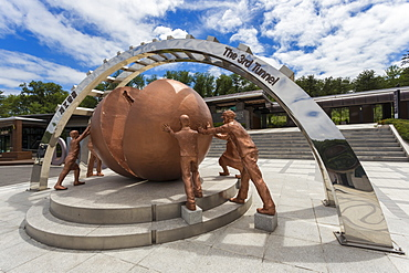 Third Tunnel Statue, site of Third Infiltration Tunnel, Demilitarised Zone (DMZ) between North and South Korea, Asia