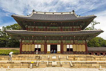 Injeongjeon main palace building, Changdeokgung Palace, UNESCO World Heritage Site, Seoul, South Korea, Asia