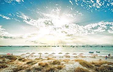 Formentera beach, Balearic Islands, Spain, Mediterranean, Europe