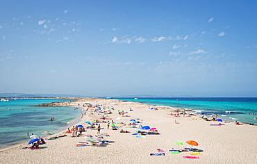 Ses Ilettes, Infinity Beach on Formentera, Balearic Islands, Spain, Mediterranean, Europe