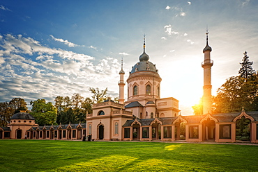 The Red Mosque, Schwetzingen, Baden-Wurttemberg, Germany, Europe