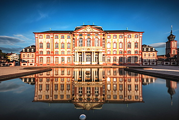 Reflections at Castle Bruchsal, Baden-Wurttemberg, Germany, Europe