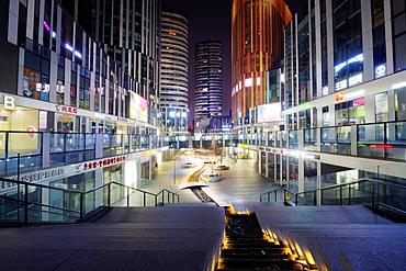 Sanlitun SOHO at night, Beijing, China, Asia