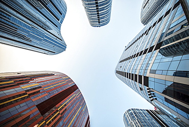 Sanlitun SOHO, futuristic architectural design by Kengo Kuma, Beijing, China, Asia - 1171-239
