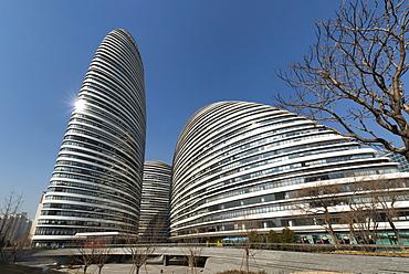 Wangjing SOHO exterior, Beijing, China, Asia - 1171-242