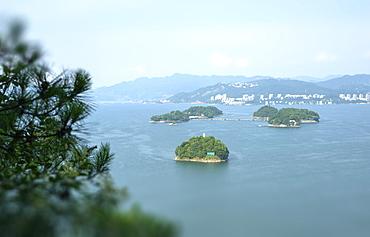 A cluster of islets at Thousand Islands Lake, Chunan, Zhejiang, China, Asia - 1171-252