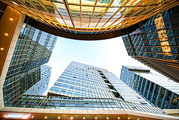 Looking up in high end Intime Center, Hangzhou City, China, Asia - 1171-287