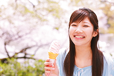 Woman With Ice Cream