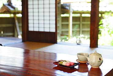 Barley Tea And Traditional Sweets