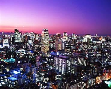 Morning glow in Toranomon, Tokyo, Japan