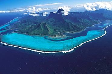 Sky over Moorea Island, Tahiti