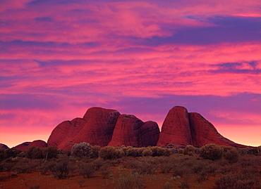 Red Sky at Sunrise and Kata Tjuta