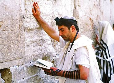 Worshipper in Western Wall