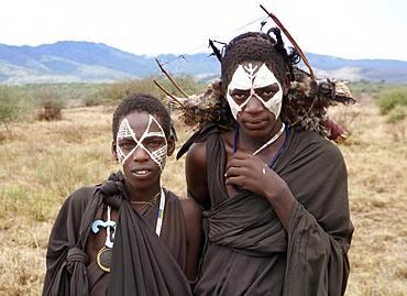 Boy of Black Masai Tribe , Masai Village