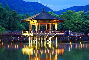 Sagi Pond And Ukimido, Nara, Japan