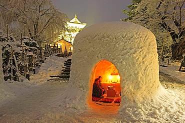 Kamakura Snow Festival, Yokote, Akita, Japan