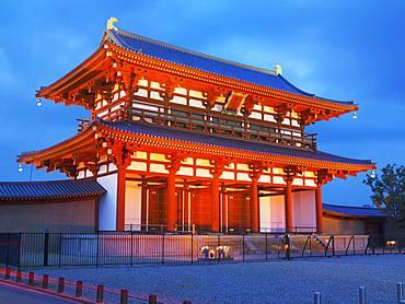 Night View, Heijo Palace, Suzukumon, Nara, Japan