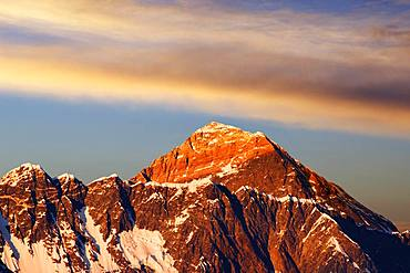 Everest, Nuptse, Evening Glow