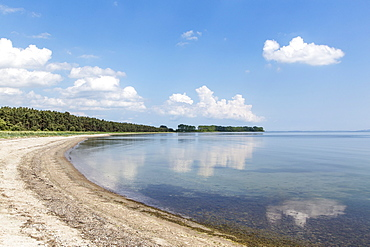 The empty beach at Palmer Ort on the peninsula of Zudar, Rügen