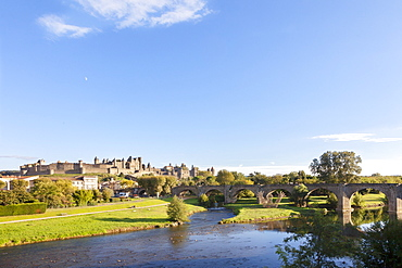 A view of the town of Carcassonne (Languedoc-Roussillon, France)