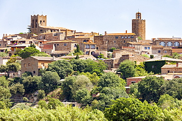 A view of the village of Pals on the Costa Brava, Spain