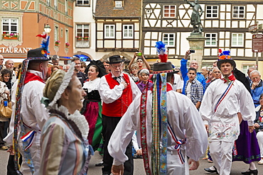 A folklore dance in Colmar, Alsace