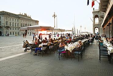 Caffe degli Specchi on the Piazza Unita d Italie in Triest, Italy