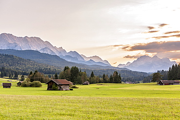A range of mountains between Klais and Mittenwald, Upper Bavaria
