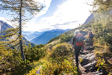 Hiking in the Berchtesgaden National Park, Bavaria, Germany
