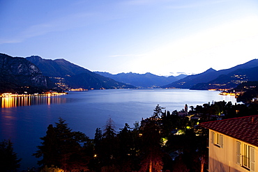 View of Lake Como from Hotel Lumin in Lombardy, Italy