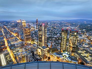The skyline of Frankfurt am Main, Germany