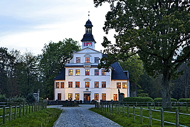 Facade of Kletkamp mansion in Schleswig-Holstein, Germany