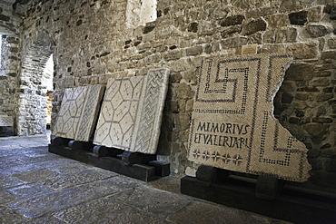 Mosaic floor in Euphrasius basilica at Porec, Istria, Croatia