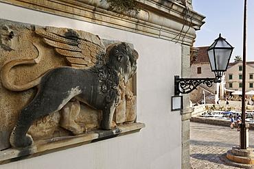 Winged lion in Hvar building, Croatia