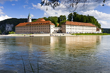 View of river Danube and Monastery world castle, Europe