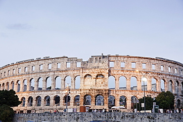 View of Pula Arena amphitheater in Croatia