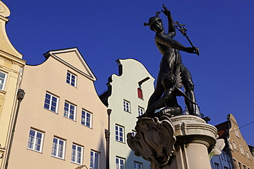 Mercury Fountain at Moritz Square in Augsburg, Bavaria, Germany