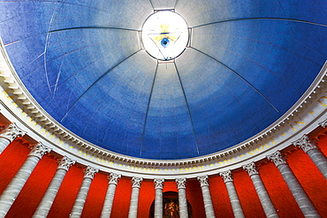Upward view of dome of St. Louis at Darmstadt, Hesse, Germany