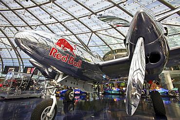 Aeroplane at Ikarus Restaurant in Hangar-7, Salzburg, Austria