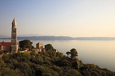 View of Makarska city and sea in Croatia