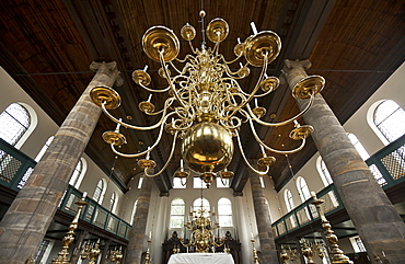 Chandelier hanging at The Portuguese Synagogue, Esnoga, Amsterdam, Netherlands