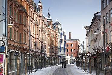 People walking on Munich street, Rosenheim, Bavaria, Germany