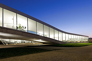 View of Swiss Federal Institute of Technology in Lausanne, Lake Geneva, Switzerland