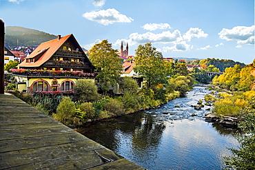 Municipality Forbach near river bank, Germany