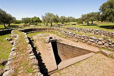 Santa Cristina sacred well in Paulilatino, Oristano, Sardinia, Italy