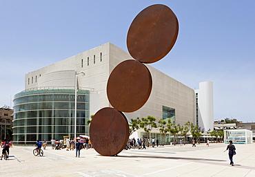 View of Habima National Theatre in Tel Aviv Habima Square, Israel