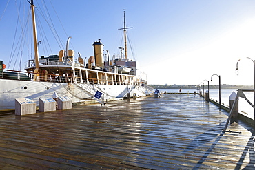 Ship on port at Halifax Regional Municipality, Nova Scotia, Canada