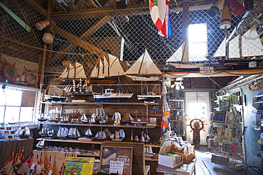 Souvenirs shop at Courts Wharf, North Rustico Harbour, Canada