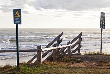 Sign board at Brackley Dalvay beach, Prince Edward Island, Canada
